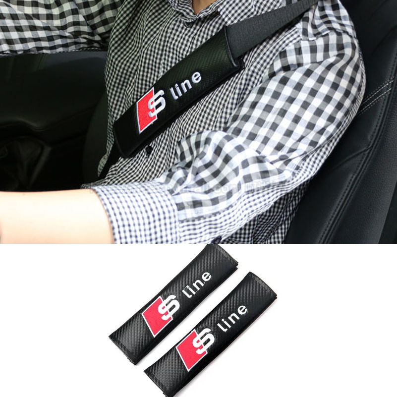 For Audi A3 A4 B6 B7 B8 B5 A6 C5 C6 C7 80 Q5 Q7 TT A5 Q3 100 A1 A8 S3 S4 R8 8P 8L 8V A7 A2 S line RS Car Safety Belt Protector r b parker s the devil wins