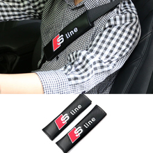For Audi A3 A4 B6 B7 B8 B5 A6 C5 C6 C7 80 Q5 Q7 TT A5 Q3 100 A1 A8 S3 S4 R8 8P 8L 8V A7 A2 S line RS Car Safety Belt Protector(China)