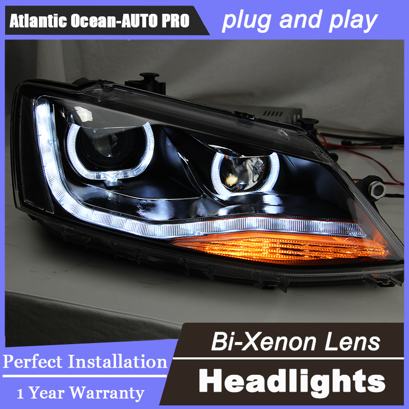 Auto.Pro Car Styling LED Head Lamp for VW Passat B7 led headlight 2012-2014 US Type Volks Wagen drl hid Bi-Xenon Lens low beam набор автомобильных экранов trokot для vw passat b7 2010 2014 на передние двери tr0408 01