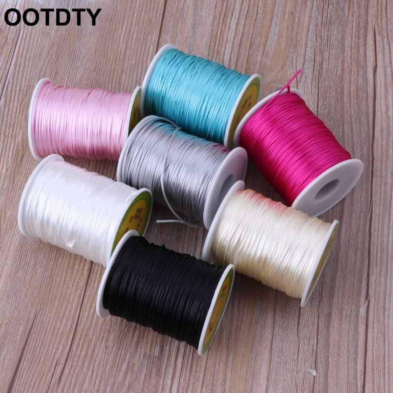 Colorful 80 Meters Satin Silk Rope Nylon Cord For Baby Teether Dental Accessories Teething Necklace Rattail Cord DIY Tool
