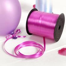 220M/Roll Plastic Ribbon Tied For Balloon Ribbon Wedding Decoration Tape Jewelry Gift Box Wrapping Ribbon Ruban 4 roll/lot