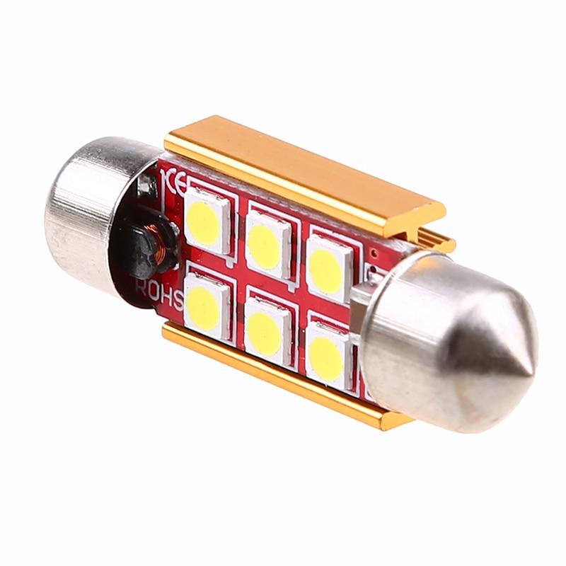 POSSBAY 1Pcs 31/36/39/41mm 3030 4/6LED CANBUS Error Free Car Festoon Dome Light Reading Lamp License Number Plate Bulb