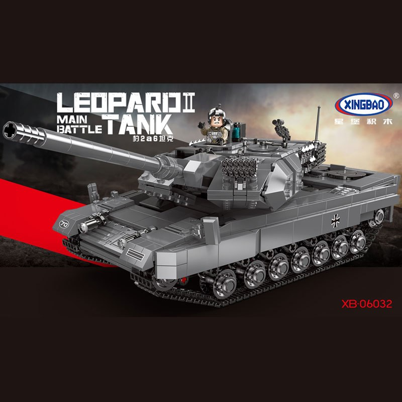 купить new XINGBAO 06032 Military Series The Leopard 2 Tank Set Building Blocks Bricks Tank Toy Model Kids Toys Birthday Christmas Gift онлайн