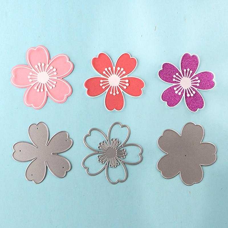 3pcs large sakura blossom 3D Stencils metal Cutting die for DIY craft projects decoration Scrapbook Paper Album greeting card