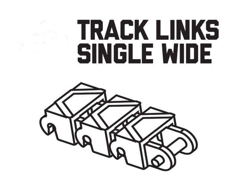 *Track Link single wide* JH645 50pcs DIY enlighten block