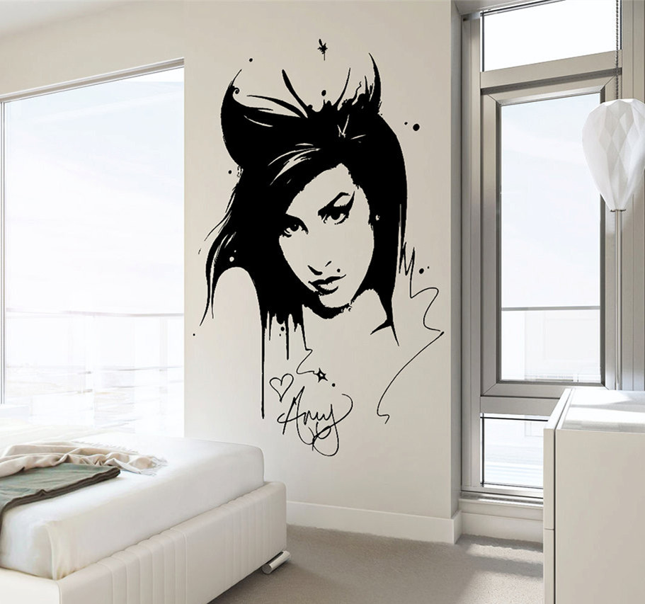 Amy Winehouse Wall Decal Sticker Beauty Hair Salon Vinyl Interior