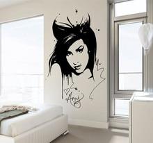 Amy Winehouse Wall Decal Sticker Beauty Hair Salon  Vinyl Interior Home Decor Mural Removable Living Room YO-133