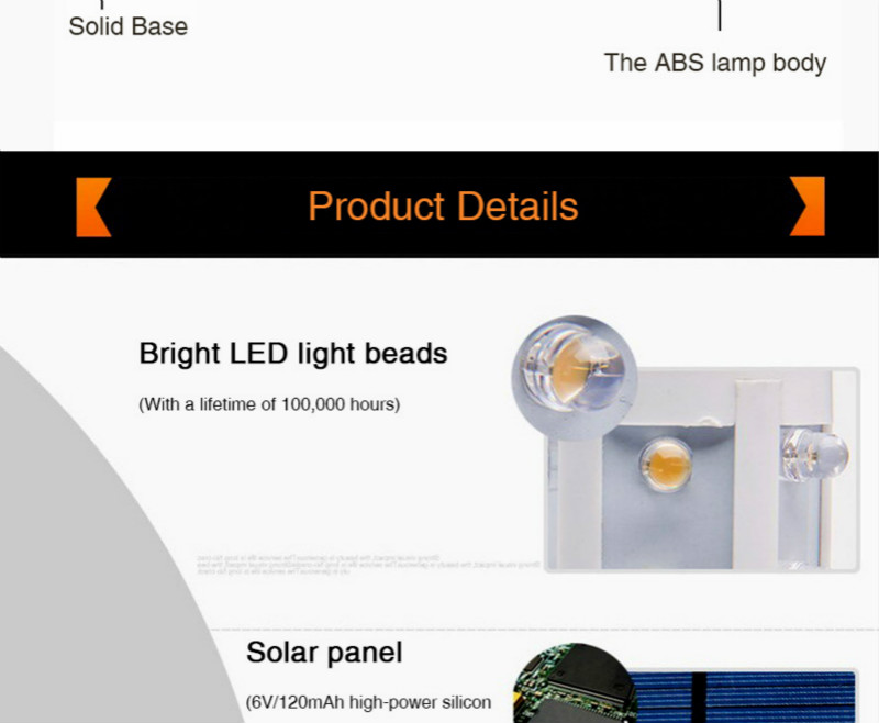 Led solar post luz ao ar livre