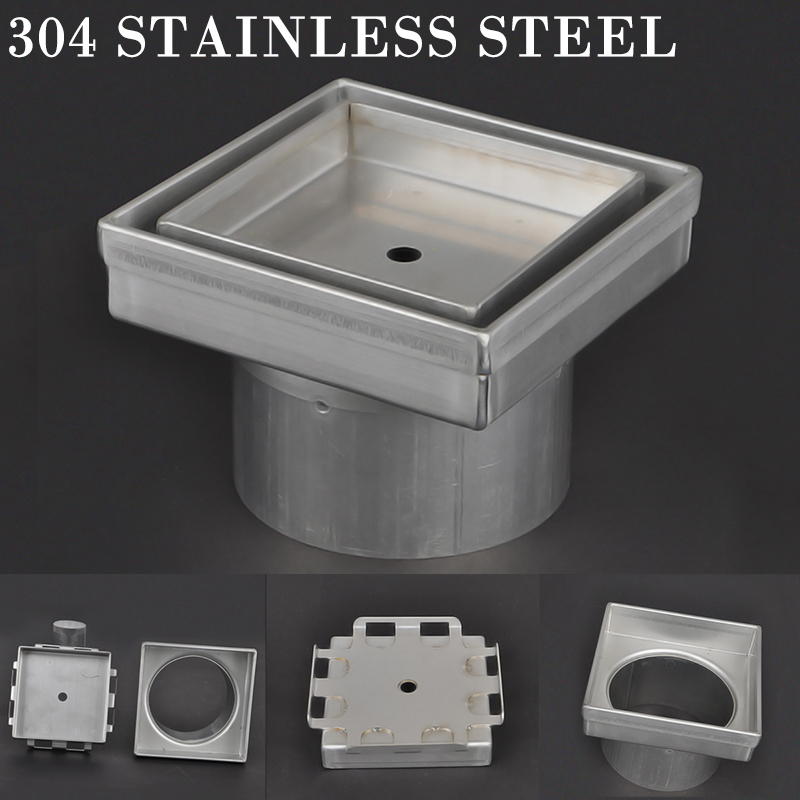 Stainless Steel Floor Drain Tile Insert Shower Grate Drain Bath Ground Bathtub Shower Drainer Floor Strainer MAYITR mayitr stainless steel linear shower ground floor drain grate mesh sink strainer bathroom tool 900mm
