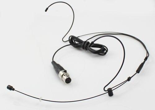 High Qulity Black Dual Hook Mic Headset Headworn Microphone 3Pin XLR mini Fit Samson AKG TA3F