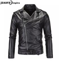 Бренд черный PU кожаная куртка мужчины 2016 Новая Мода Дизайн мужские Slim Fit Мотоцикл Байкер Куртка jaqueta de couro(China (Mainland))