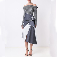 2017 new fashion Irregular overskirt for women Half skirt high quality Ladies Long Skirts