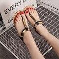 [328] mulher sapato sapatos Sandálias de Verão das Mulheres Novas PU Manga Elástica Confortável Roma Sandálias Femininas 36-40 Metros. HYKL-CH8803