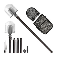 Portable Folding Shovel Military Multi tool Outdoor Camping Shovel Carbon steel Hiking