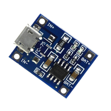 Free Shipping TP4056 1A Rechargeable Charging Board Charger Module Lithium Battery Plates MICRO USB Interface
