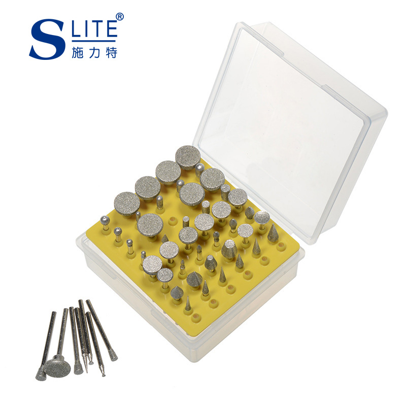Slite Corundum Hobbing Manicure Grinding Accessories 50 Sets Of Diamond Grinding Head Group Box
