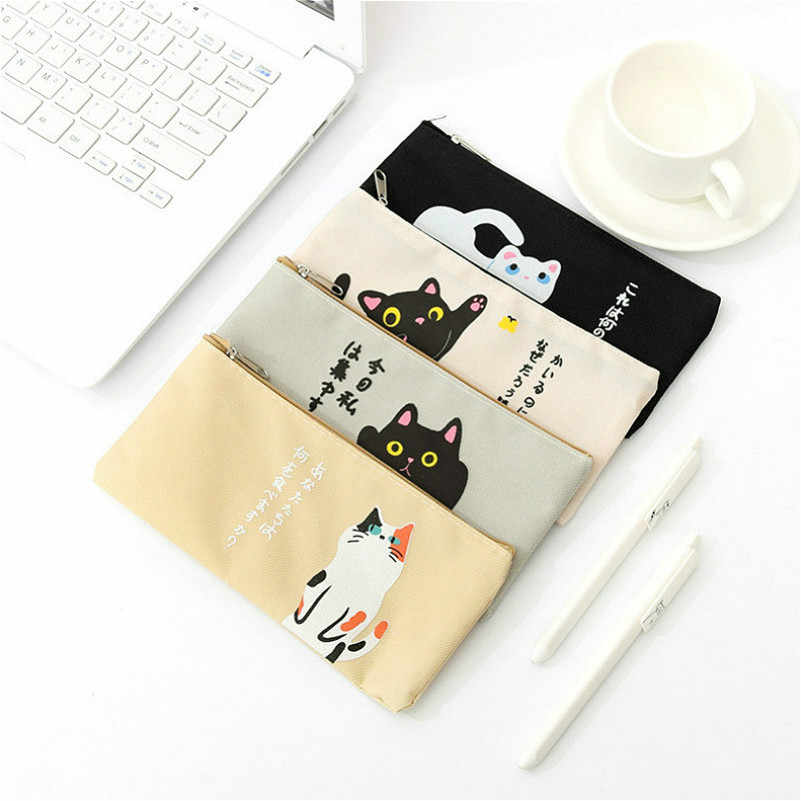 New Product Style Lucky Cat Pencil Case Silica Gel School Supplies Stationery School Cute Pencil Box Pencilcase Pencil Bag