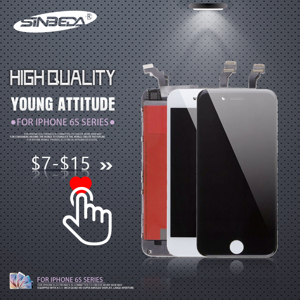 Sinbeda 2pcs/lot LCD For iPhone 6 6s Plus LCD Display Touch Screen Digitizer Assembly for iPhone 6 6S Plus 6 Plus Display image