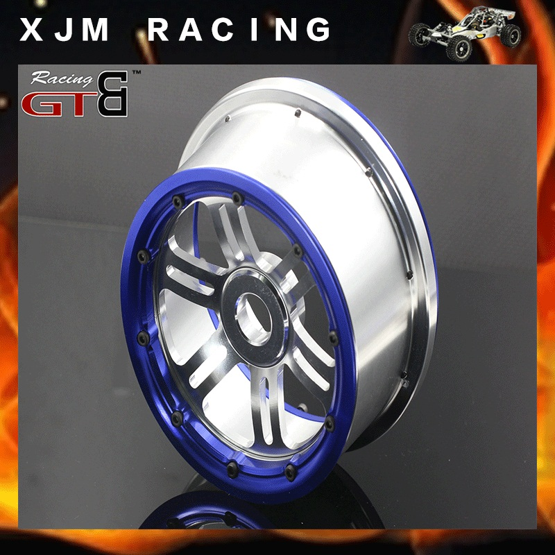 Gtbracing 2 спереди и 2 задних колеса концентратора/обода с Beadlock кольцо для 1/5 Losi 5ive T Rovan LT км x2