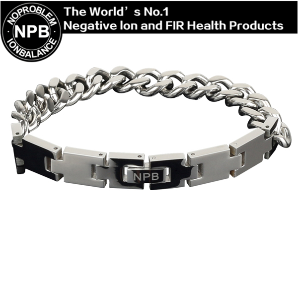 P049 L 24cm Noproblem Ion balance fashion germanium magnetic health therapy charm men power choker men