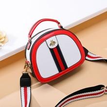 Women's crossbody bags PU leather Casual messenger bags large capacity Handbags Bee Pattern Lichee Texture Shoulder Bag Satchel croc pattern satchel bag