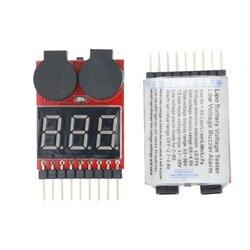 Цифровой 2 IN1 низкий зуммер сигнализации 1 S-S 8 S Lipo Li-on Fe RC Напряжение метр мониторы Тестер для Вертолет батарея скидка 35%