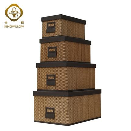 Panier De Rangement En Bambou Fait Main Avec Boîte De Couverture, Boîte De  Rangement Panier En Osier Rotin Panier De Rangement Livraison Gratuite Dans  ...