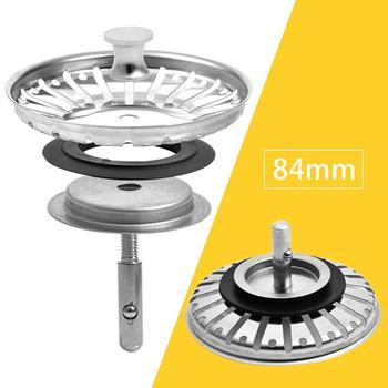 Sink Strainer Plug Kitchen Sink Waste Strainer Plug Stainless Steel Strainer Plug For Kitchen/Bathroom For UK Sinks (79-81-84mm)