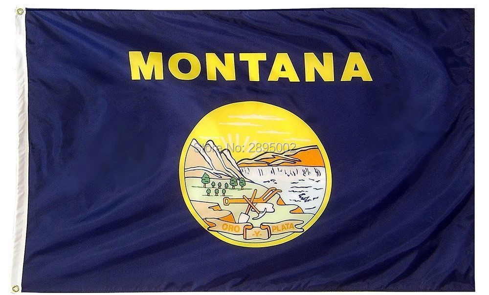 Montana State Flag Polyester grommets 3 x 5 Banner metal holes Flag