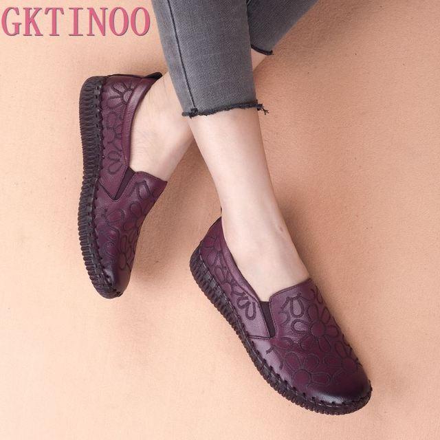 الأزياء جلد طبيعي حذاء مسطح النساء المتسكعون الشقق أحذية راقصة باليه امرأة اليدوية الحوامل أحذية الشقق عارضة أحذية قيادة