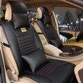 Completo de cuero de LA PU universal de coche cubierta de asiento de coche de auto accesorios interiores diseño de lujo protector de asiento de cuero