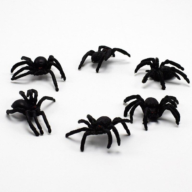 5/10 pièces/ensemble drôle Gadgets Simulation araignée jouet réaliste effrayant yeux rouges plaisanterie nouveauté astuce faux Bugs Halloween accessoires
