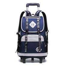 Children School Bags Trolley Backpacks Boys 2/6 Wheels Schoolbag Kids Luggage Bag grils Wheels Backpack travel Rolling Backpack