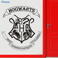 Harry Potter Hogwarts School Badge Custom Vinyl Wall Stickers Home Decor Living Room Door Decoration Removable