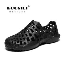 Men Sandals Real 2019 Mens Leather Sandal Male And Female Same Style Garden High Quality Breathable Clogs Lightweight 4 Colours reef men s real tree phantoms thong sandal