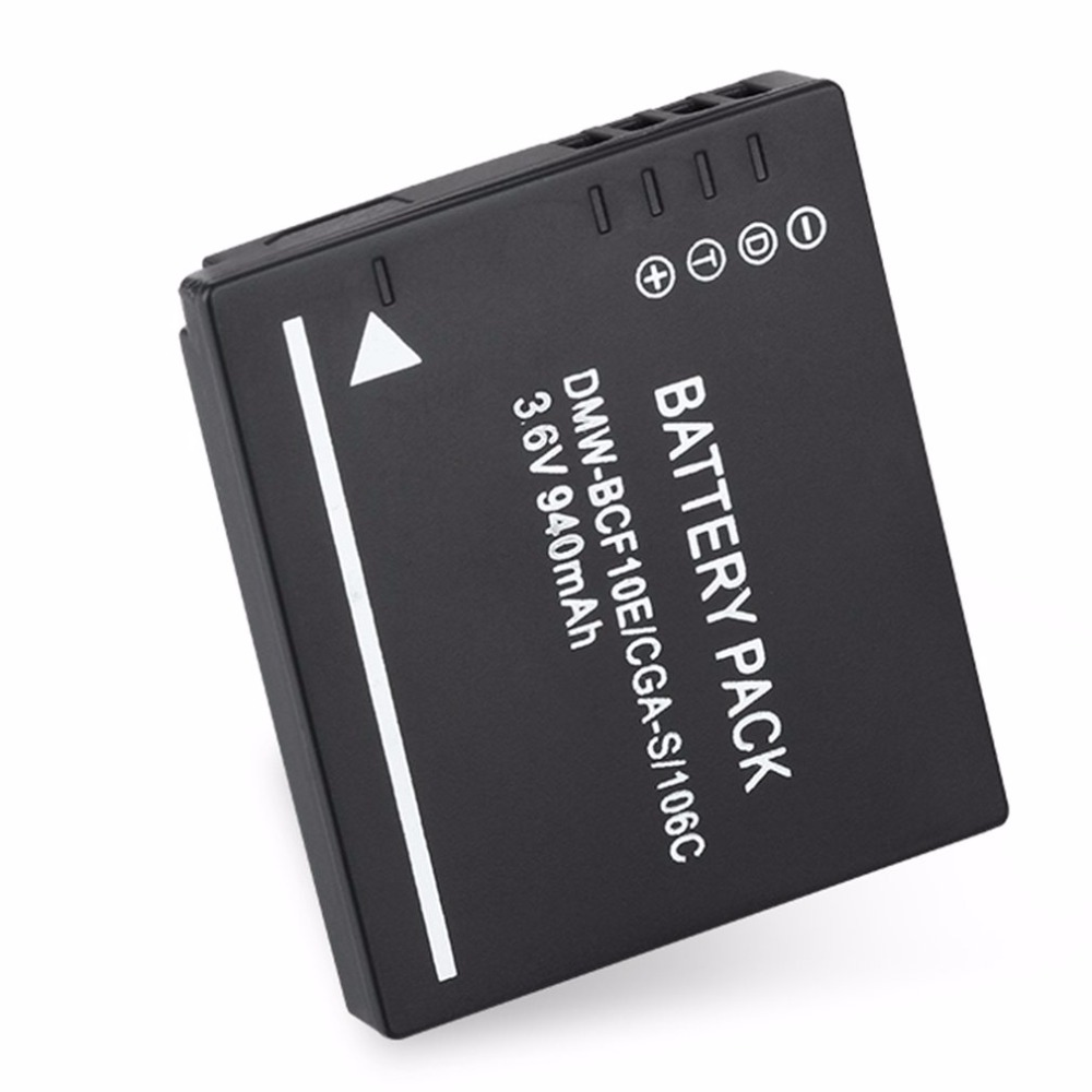 Portátil 1200 mAh Li-Ion Batería Para DMW-BCF10E Panasonic Lumix DMC-F2 CGA-S//106C