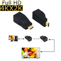 30M 4k*2k HDMI Over Single RJ45 CAT5E CAT6 Passive HDCP 1080P 4K Resolution HDMI Extender Repeater 3D For HDTV HDPC PS3 STB