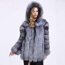 2017, Новая мода искусственного меха лисы пальто женские зимние средней длины короткие Роскошные Искусственный мех пальто Женская куртка с капюшоном пальто из норки