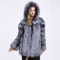 2017 New Fashion Faux Fox Fur Coat Women Winter Medium Long Short Luxury Fake Fur Coats Female Hooded Jacket Overcoat Mink Coat