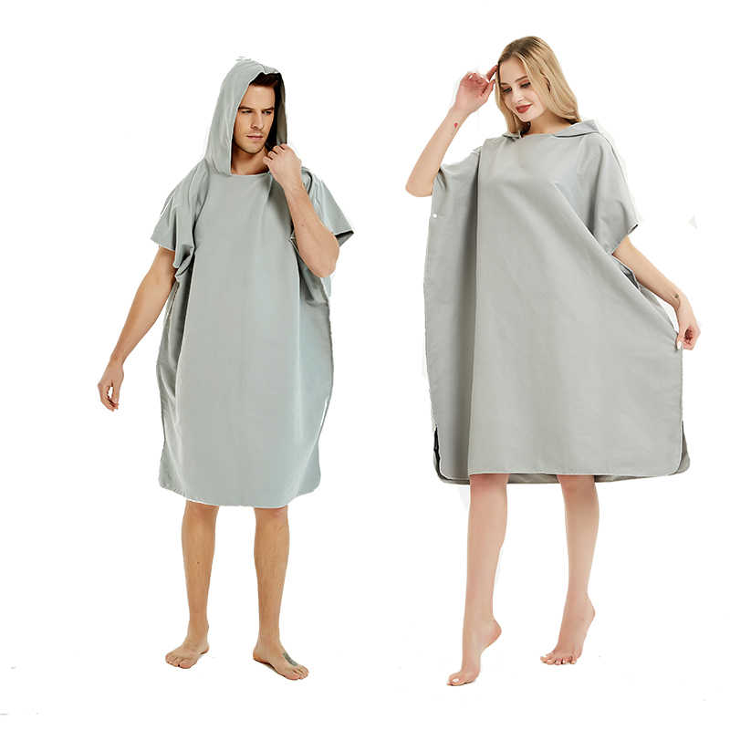Beach Towel Surfing Swimming Robe Light Weight Compact Microfibre Changing Wetsuit for Women and Men Surwin Hooded Changing Robe Adult Surf Poncho Towel