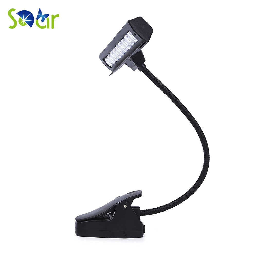 music stand light clip on orchestra led lamp book reading mixing table dj craft work travel desk. Black Bedroom Furniture Sets. Home Design Ideas
