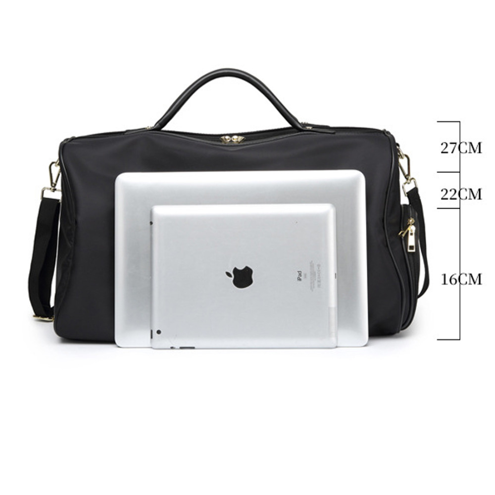 Travel Bags Waterproof Solid Zipper Nylon Bag Women Large Capacity Shoulder  Handbag Casual Crossbody Travel Single Shoulder Bags-in Travel Bags from  Luggage ... 151bbaa39d