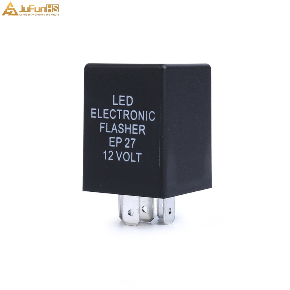 5 Pin EP27 FL27 LED Flasher Relay 12V Car Electronic For LED Turn Signal Lamp blinker corner light 5P Hyper Flash Auto Relays in Car Switches Relays from Automobiles Motorcycles