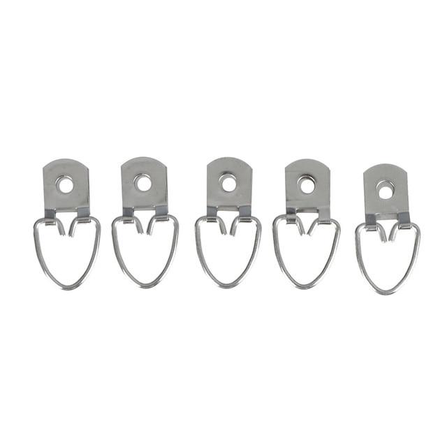 Caliente 20 unids/pack Colgadores de cuadros plateado anillo D ...