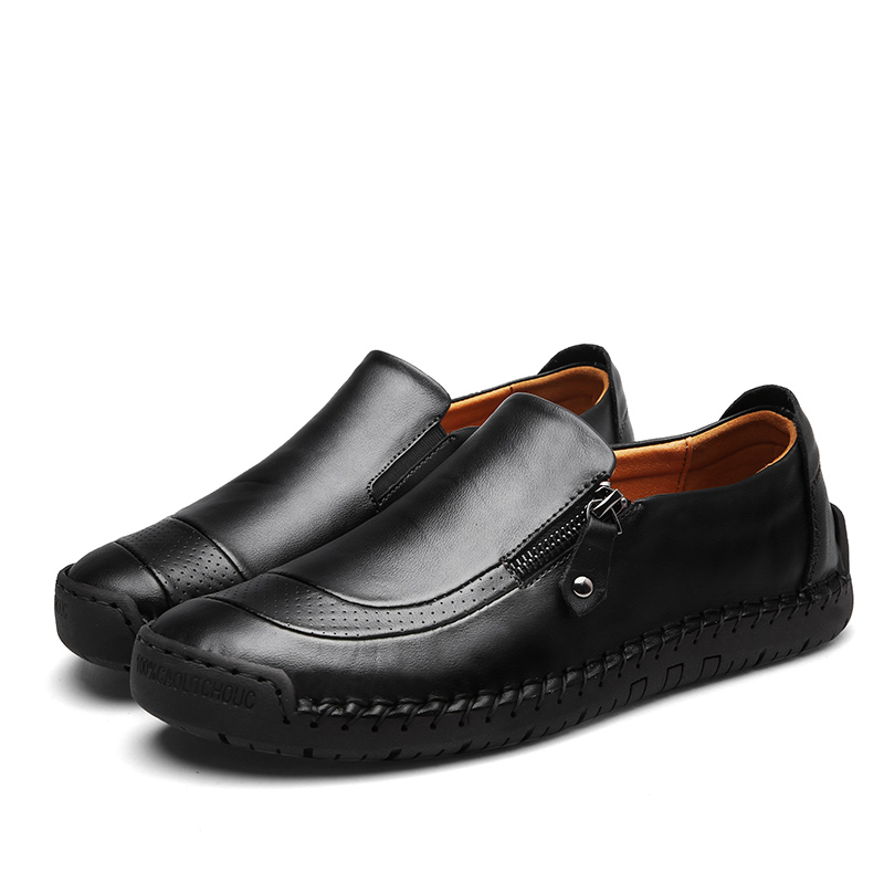 Image 5 - New big size 38 48 men casual shoes loafers spring and autumn mens moccasins shoes genuine leather men's flats shoes ZUNYU Brand-in Men's Casual Shoes from Shoes
