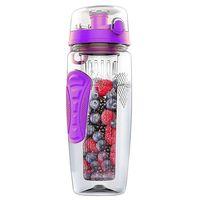 1000 ml/32 oz frutas infundir infusor garrafa de água plástico esportes desintoxicação saúde|null| |  -