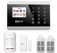 Touch-tastatur Tft-farbdisplay GSM & PSTN Alarmanlage