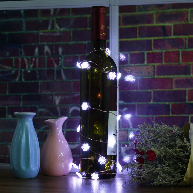 120CM Snowflake Shaped Flexible 10 Leds String Light Battery Powered LED String Fairy Light Lamp Party Christmas Wedding Decor