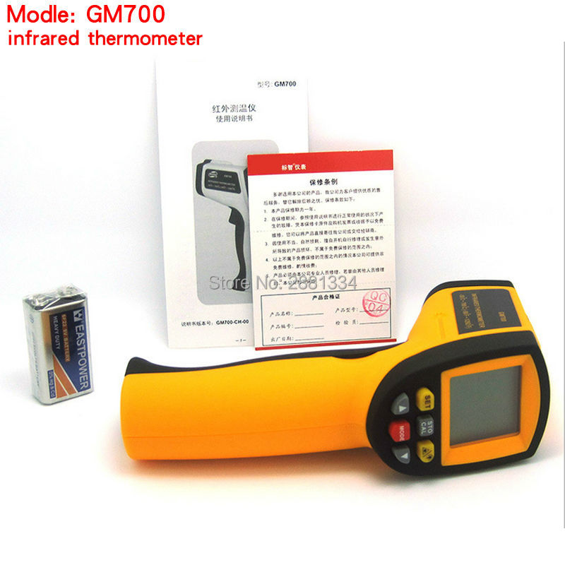 Good Quality IR Infrared Temperature Tester Thermometer Laser Gun GM700 -50-700 Degree Non-Contact Thermometer  цены