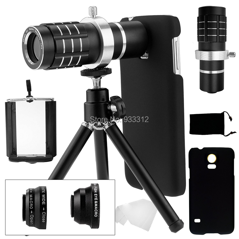 9 Piece Camera Photo Kits:12X Optical Telescope+Three Awesome Lenses+Mini Tripod For Samsung Galaxy S8 S6 S7 Edge Plus/S5 i9600 12x optical zoom telescope camera lens w back case for samsung galaxy note 2 n7100 silver black